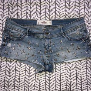 Hollister Jean Shorts Studded